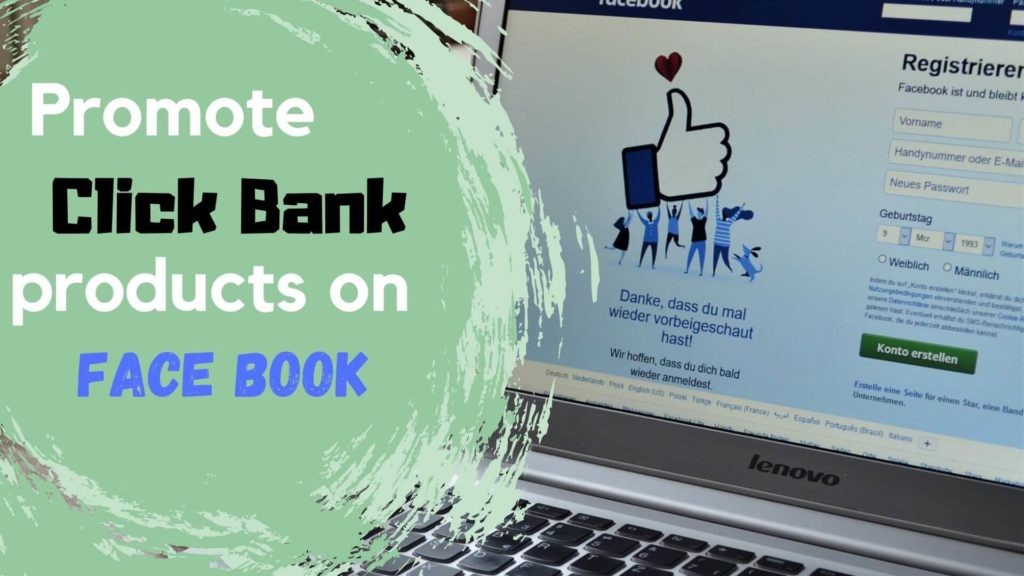 how to promote click bank products on facebook