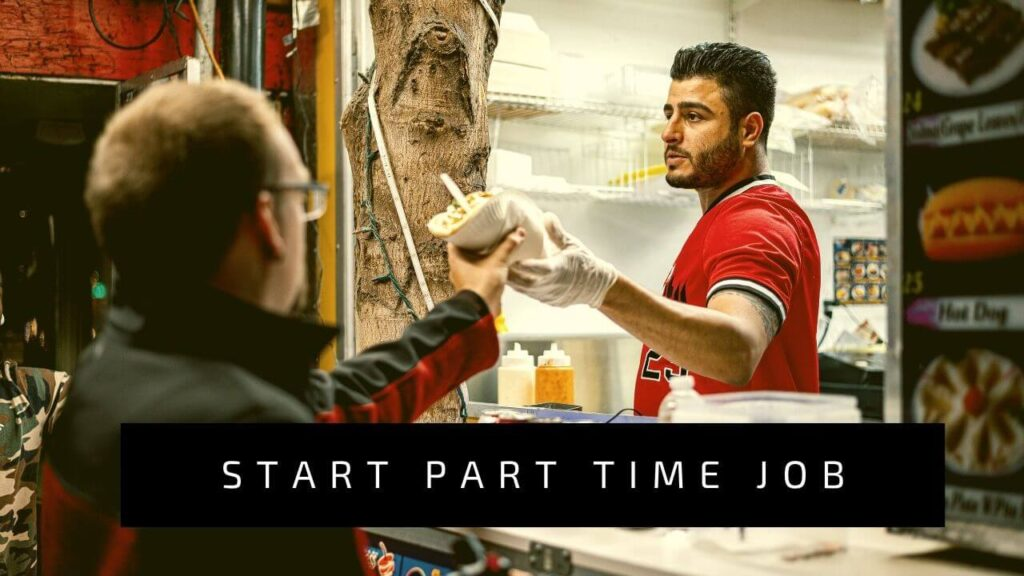 Doing part time jobs to earn money in India